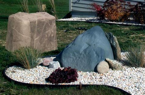 Plastic Garden Rocks Topp Industries Plastic Landscape Rocks Enhance Any Property S Appearance While Hiding