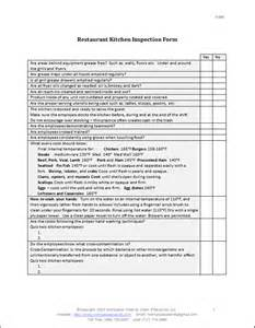 kitchen manual template restaurant kitchen inspection form