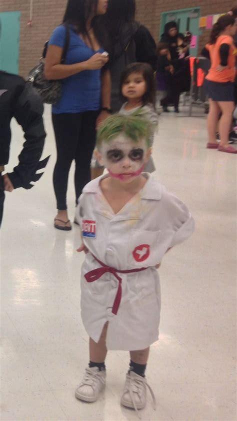 diy kid halloween nurse joker  dark knight batman