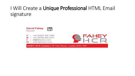 design a html email signature i will design beautiful html clickable email signature