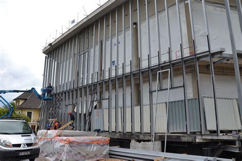 Pose De Mur Rideau by Renovation Theatre De Thonon Silo Architectes