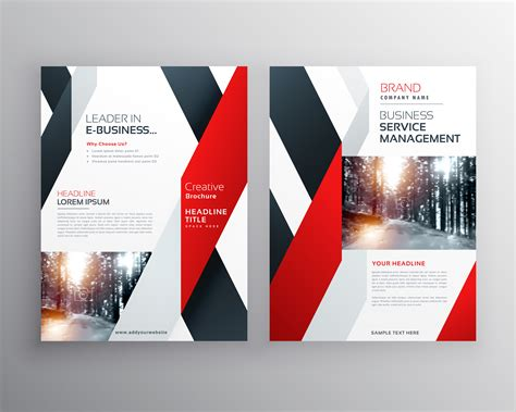 Red Black Geometric Shape Business Flyer Poster Design Poster Design Templates