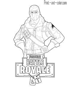 Fortnite battle royale coloring page Havoc male skin