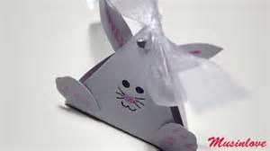 tutorial origami coniglio scatola coniglio di pasqua tutorial musinlove youtube