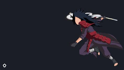wallpaper naruto 4k uchiha madara naruto minimalist wallpaper 4k by