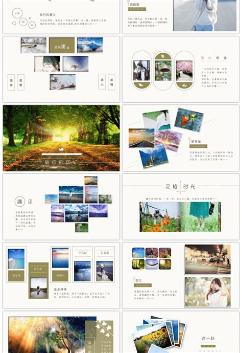 Awesome Travel Photo Album Travel Diary Ppt Template For Unlimited Download On Pngtree Travel Album Template