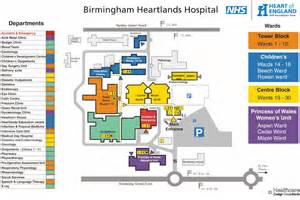 map of hospitals location of heartlands hospital laboratories