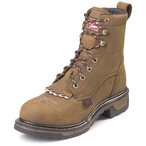 s tony lama 174 8 quot tlx 174 steel toe work packer boots
