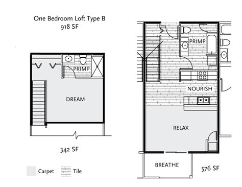 1 bedroom with loft floor plans johnson properties
