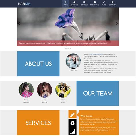 top free html5 templates template 403 karma