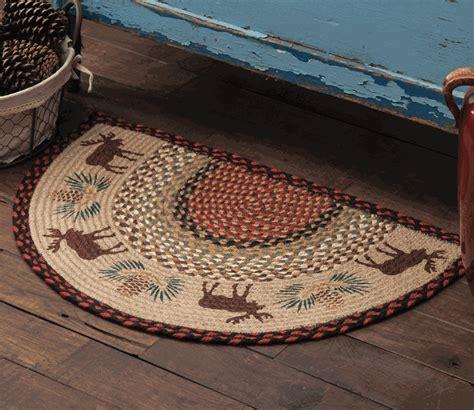 moose pinecone braided rug