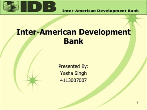 what is development bank inter american development bank