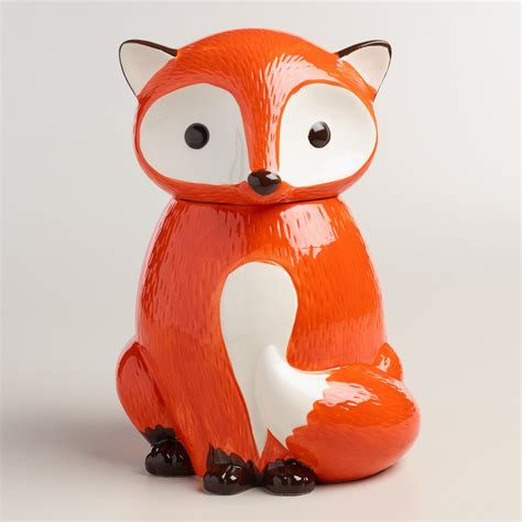 cookie jar ceramic fox cookie jar world market