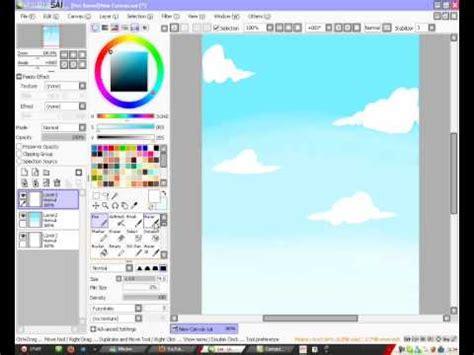 paint tool sai sky tutorial paint tool sai sky tutorial 2 2
