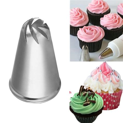 design drill flower power studio flower spiral icing piping tips nozzle cake cupcake