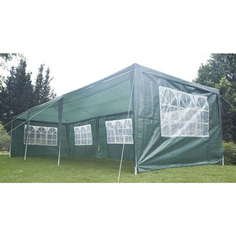 Portable Patio Gazebo Outdoor Portable Gazebo Marquee Tent In Green 3x9m Buy 3x9m