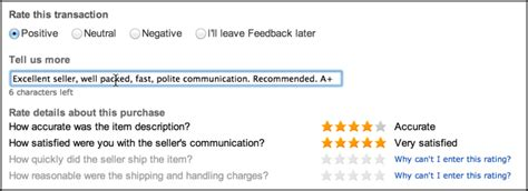 ebay feedback how do i leave feedback for an ebay seller ask dave taylor