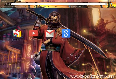 theme google chrome final fantasy 7 final fantasy x google chrome theme by wwots on deviantart