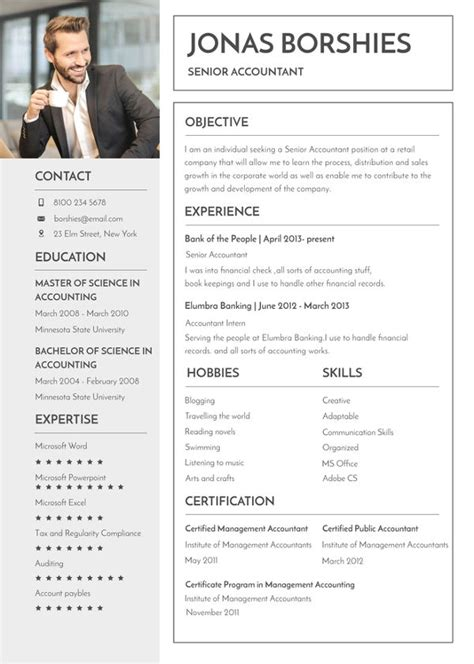 Formal Cv Template by 12 Formal Curriculum Vitae Free Sle Exle Format