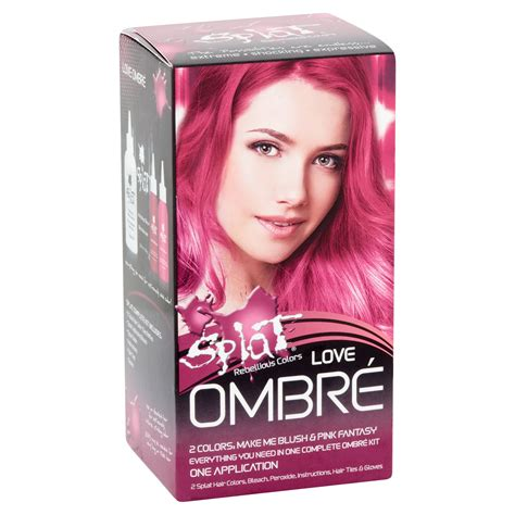 splat hair dye for black people splat rebellious colors semi permanent complete kit