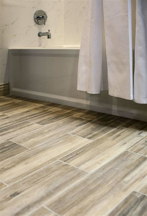 easy way to clean bathroom tiles faux wood ceramic tile in the bathroom easy to clean and still gets