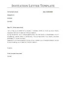 business visit invitation letter letter of invitation for business visa sle templates