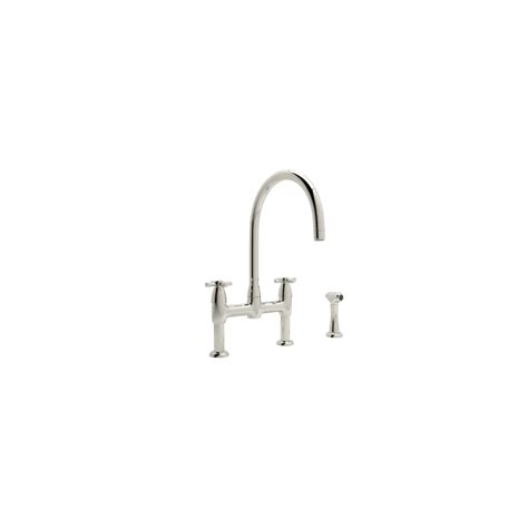rohl u 4272x perrin and rowe contemporary bridge kitchen faucet com u 4272x pn 2 in polished nickel by rohl