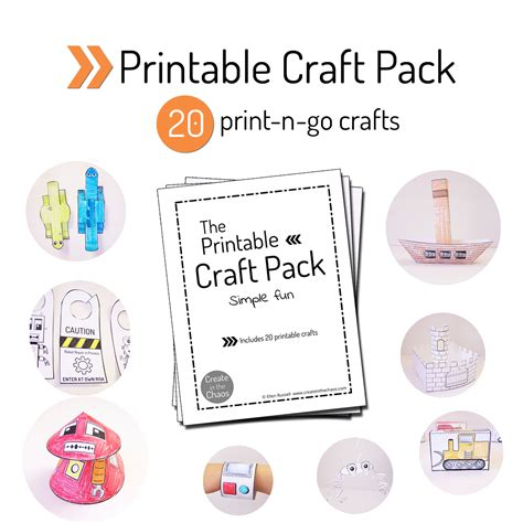 free printable crafts printable craft pack create in the chaos