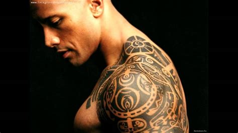 dwayne johnson brust tattoo the rock tribal tattoo youtube