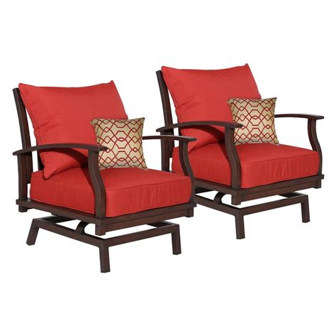 Allen And Roth Patio Chairs Allen Roth Gatewood Patio Motion Chair Set Of 2 Lowe S Canada