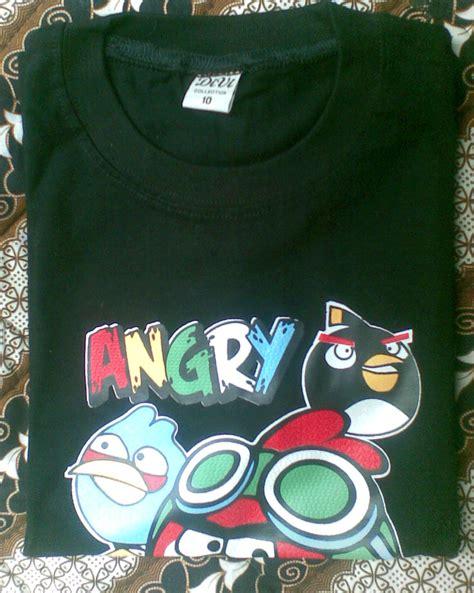 Kaos Heroes Hitam angry bird 10 toko baju celana murah