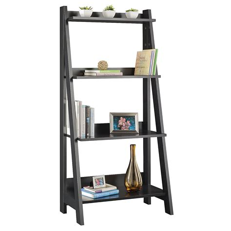 Ladder Shelf Bookcase Bush Furniture Ladder Bookcase By Oj Commerce My72716 03