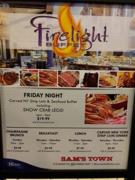 great prices now at sam s town firelight buffet picture