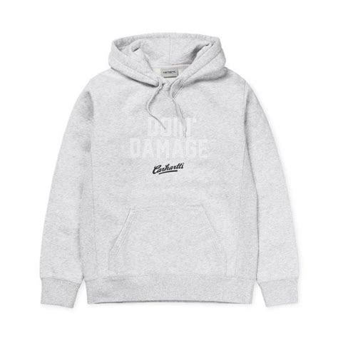 Doin Damage Hoodie carhartt hooded doin damage sweat ash hlstore