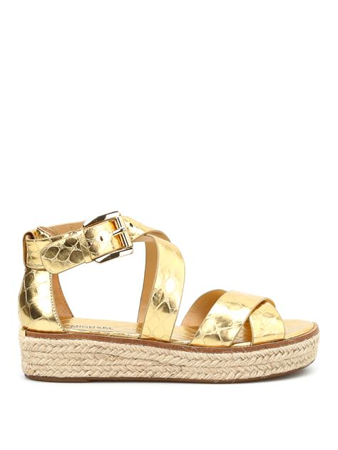 michael sandals darby cocco print wedge sandals by michael kors sandals