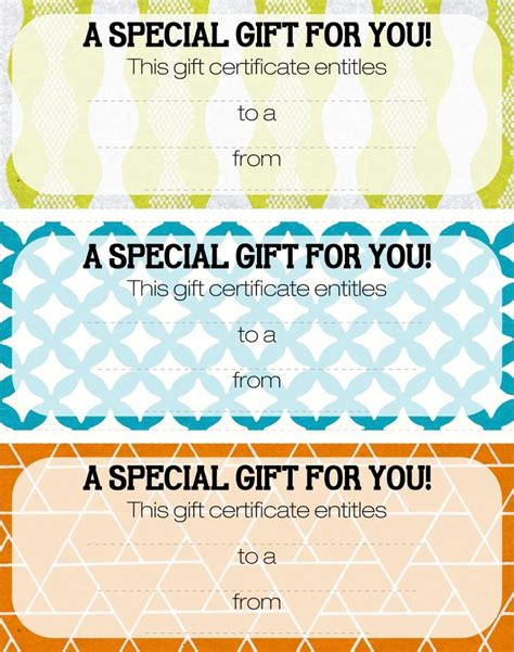 29 best printable gift certificates images on
