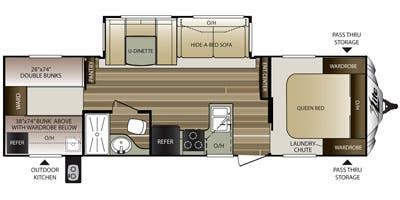cougar travel trailers floor plans 2015 cougar xlite full specs for 2015 keystone cougar xlite 29rbk rvs