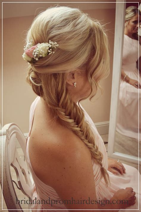 prom hairstyles hair extensions beautiful fishtail braid with hair extensions added