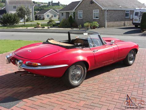 e type jaguar kit car soft top pillar box red great