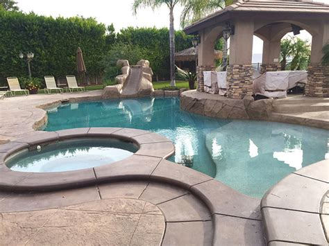 backyard makeover tropical pool los angeles by