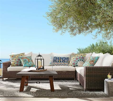 outdoor sectionals on sale pottery barn outdoor furniture sale sectionals sofas