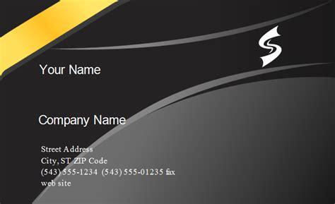 Yellow Band Business Card Template Band Business Card Templates Free