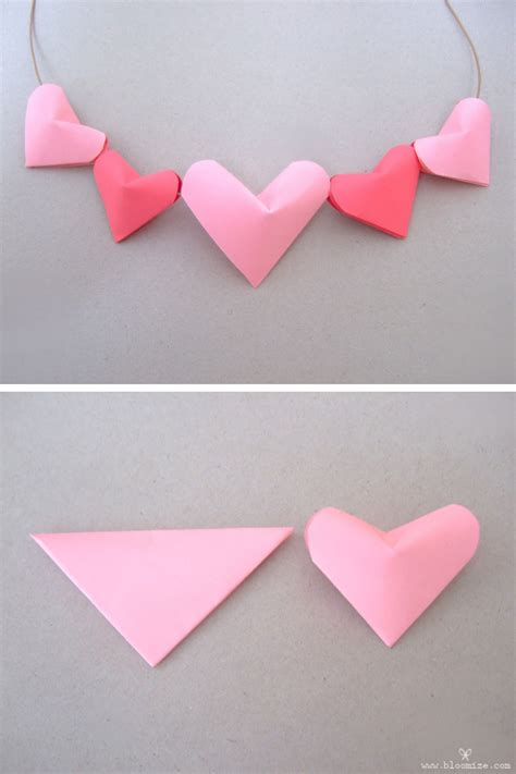 How Do You Make Paper Hearts - a puffed up 3d paper bloomize