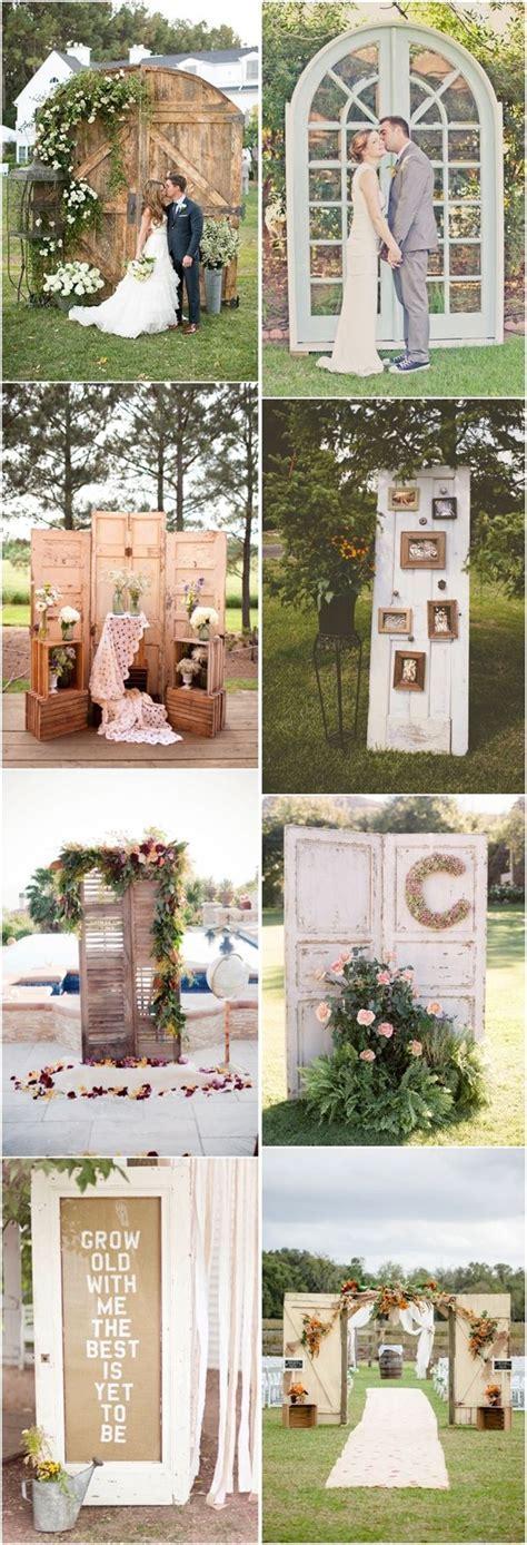 rustic old door wedding ideas  country outdoor wedding