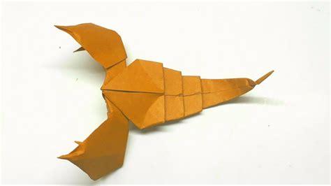 tutorial origami scorpion easy origami tutorial how to make an origami scorpion