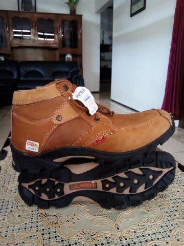 jual sepatu juger kulit coklat di lapak toko barokah