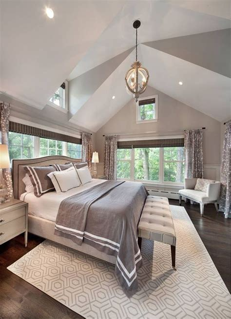 vaulted ceiling bedroom transitional bedroom annette master bedroom with wainscoting by bill bisset zillow