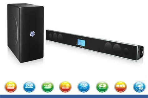home theater system bluetooth soundbar speaker with 2 4g