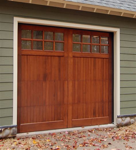 Wood Garage Doors Wooden Overhead Door Paint Grade 9 Garage Doors