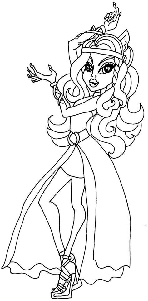 monster high coloring pages 13 wishes gigi clawdeen 13 wishes by elfkena on deviantart